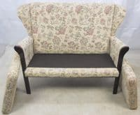 Wingback Two Seater Cottage Style Settee - SOLD